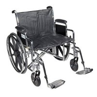 Sentra Heavy-Duty Wheelchair with Detachable Desk Arms and Swing-Away