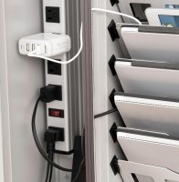 Ipad Tablet Chromebook Charging Station, Wall Mount, Locking Cabinet, Holds 12 Devices