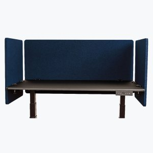 Acoustic Desk and Cubicle Divider Partition Panels One 48 and Two 24 Inch, Starlight Blue