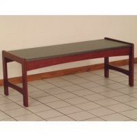 Coffee Table w/ Black Granite Look Top - Mahogany