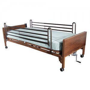 Ultra Light Full Electric Hospital Bed with Full Length Side Rails