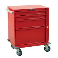 V-Series 4 Drawer Emergency Medical Crash Cart with Breakaway Lock