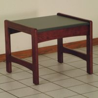 End Table w/ Black Granite Look Top - Mahogany