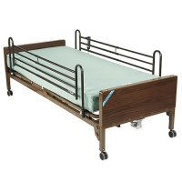 Semi Electric Ultra Light Hospital Bed with Side Rails and Mattress