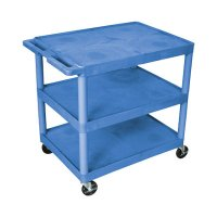 Large 3 Shelf Medical Utility Cart - Gray or Blue - HE33