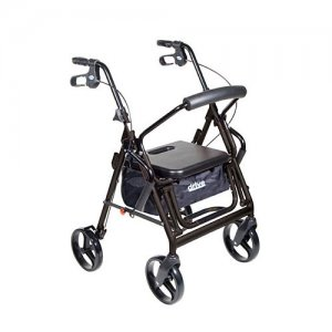 Duet Transport Wheelchair Chair Rollator Walker - Black