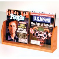 Countertop 2 Pocket Magazine Display - Medium Oak