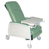3 Position Extra Wide Bariatric Patient Room Recliner - Jade