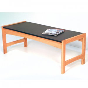 Coffee Table w/ Black Granite Look Top - Light Oak