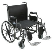 Sentra Heavy-Duty Wheelchair with Wide Detachable Desk Arms
