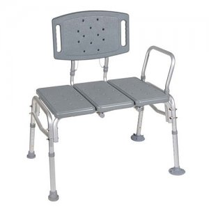 Bath and Shower Seat Transfer Bench - Plastic Heavy Duty Bariatric