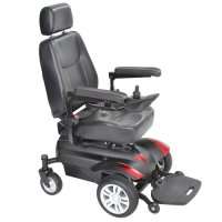"Titan Front Wheel Power Wheelchair 18"" Vented Captain Seat"