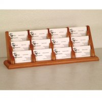 12 Pocket Countertop Business Card Holder - Medium Oak