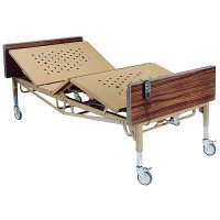 "Bariatric Electric Hospital Patient Bed with ""T"" Rails - 42 inch Width"