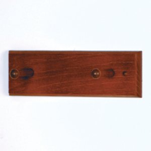 2 Peg Coat Rack with Wood Pegs - Mahogany