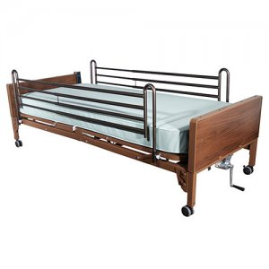 Ultra Light Full Electric Hospital Bed with Side Rails and Mattress