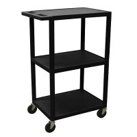 Small 3 Shelf Tall Mobile Hospital Utility Cart - HE42