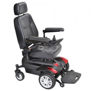 Titan Front Wheel Power Wheelchair with 20 Inch Captain Seat