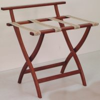 Mahogany Luggage, Suitcase, or Briefcase Rack - Tapestry Straps