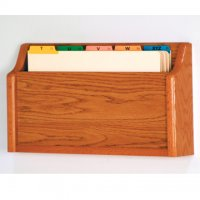 Single - Square Bottom Legal Size File Holder - Medium Oak