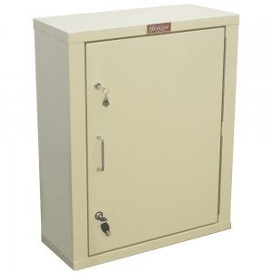 Locking Narcotics / Medicine Cabinet - Single Door / Double Lock