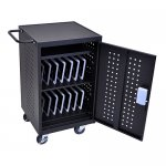 Ipad Tablet or Laptop Charging Station Cart for 30 Tablets - RFID Lock