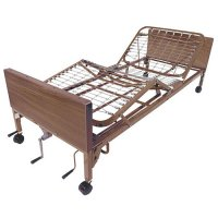 Manual Adjustable Hospital Patient Bed with Half Rails