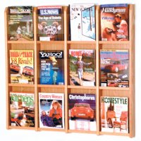 12 Magazine Wall Display - Light Oak