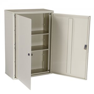 Tall Locking Narcotics / Medicine Cabinet - Double Door / Double Lock