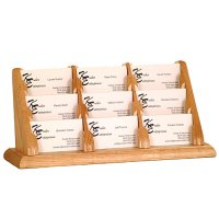 9 Pocket Countertop or Table Business Card Holder