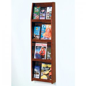 12 Pocket Literature Display - 4Hx3W - Medium Oak