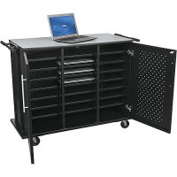 Odyssey 24 Mobile Laptop Charging and Storage Cart Workstation