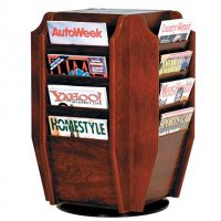 16 Magazine Rotating Countertop or Tabletop Display