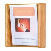 1 Pocket Oak and Acrylic Wall Mount / Literature Display Rack