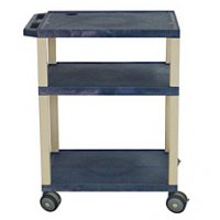 34 Inch Tuffy Utility and Audio Visual Supply Cart