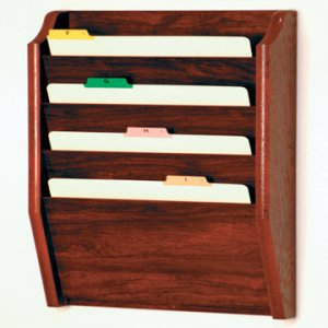 4 Pocket Legal Size File Holder - Mahogany