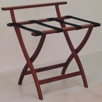Mahogany Luggage, Suitcase, or Briefcase Rack - Black Straps