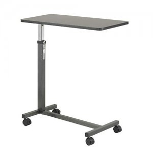 Adjustable Non Tilt Top Overbed / Hospital Bed Table