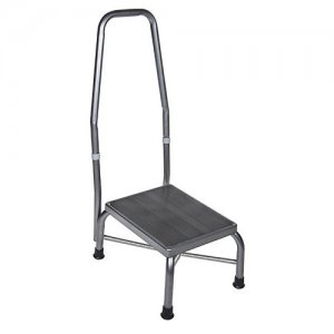 Footstool with Handrail and Non Skid Rubber Platform