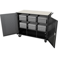Deluxe iPad Tablet Charging Locking Security Storage Cart - 48 Slots