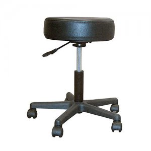 Padded Seat Revolving Pneumatic Adjustable Stool with Plastic Base