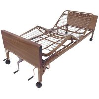 Adjustable Hospital Patient Bed - Full Length Side Rails and Mattress