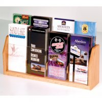 Countertop 8 Pocket Brochure Display - Light Oak