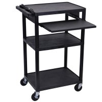 42 Inch Multimedia Workstation Cart with Laptop Shelf - LP42LE-B