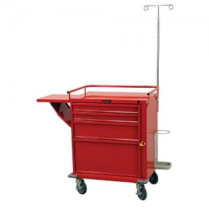 V-Series 4 Drawer Medical Crash Cart with Emergency Accessory Package