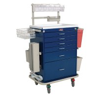 6 Drawer Tall Specialty Medical Anesthesia Cart - Deluxe Package