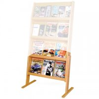 Optional Floor Stand for 4H Displays - Light Oak