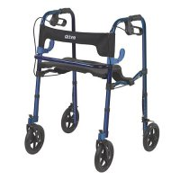 Clever Lite Adult Rollator / Rolling Walker with 8 Inch Casters
