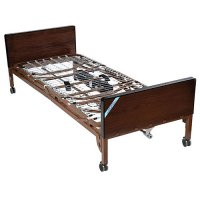 Ultra Light Full Electric Hospital Patient Bed with Half Rails