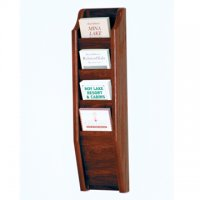 4 Pocket Brochure Rack - Mahogany